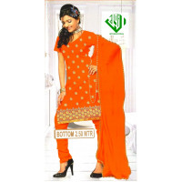 ALIF INTERNATIONAL UN-STITCHED LADIES SUIT (COLOR-ORANGE)