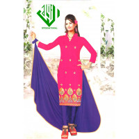 ALIF INTERNATIONAL UN-STITCHED LADIES SUIT (BLUE MIX)