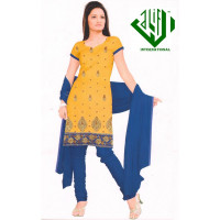 ALIF INTERNATIONAL UN-STITCHED LADIES SUIT (SANDY BROWN)
