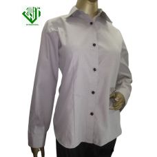 ALIF INTERNATIONAL LADIES SHIRT (CREAM WITH BLACK DOTS) WITH COLLAR