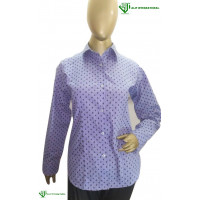 ALIF INTERNATIONAL LADIES SHIRT (BLUE PRINTED) WITH COLLAR
