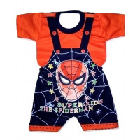 ALIF INTERNATIONAL SPIDER MAN DUNGAREE PERFECT FOR BABY BOY BABY GIRL UNDER 3 TO 18 MONTHS (RED)