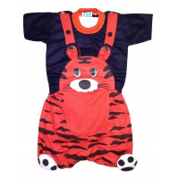 ALIF INTERNATIONAL TIGER DESIGN DUNGAREE FOR BABY BOY & BABY GIRL UNDER 03 TO 18 MONTHS (RED)